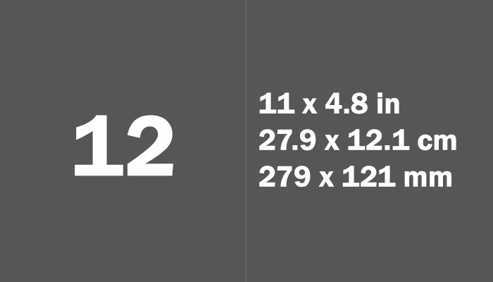 12 Paper Size Dimensions