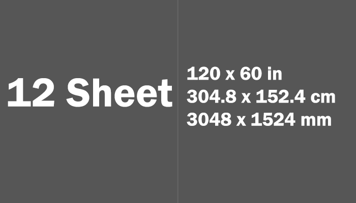 12 Sheet Paper Size Dimensions