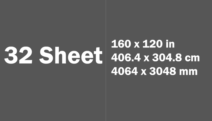 32 Sheet Paper Size Dimensions