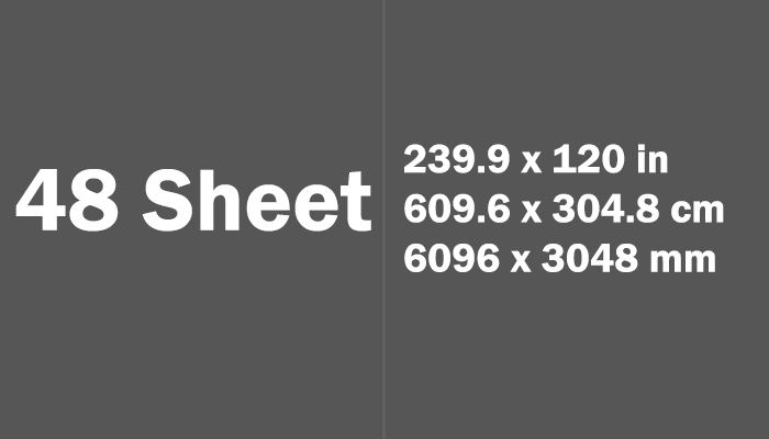 48 Sheet Paper Size Dimensions