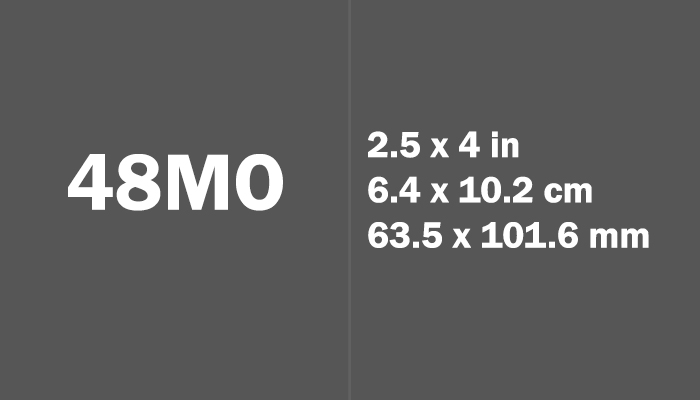 48mo Paper Size in cm mm