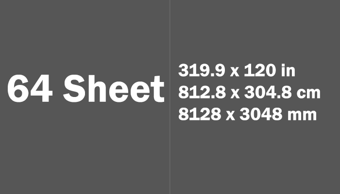 64 Sheet Paper Size Dimensions