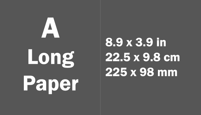 A Long Paper Size Dimensions