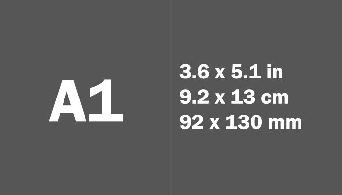 A1 Paper Size Dimensions