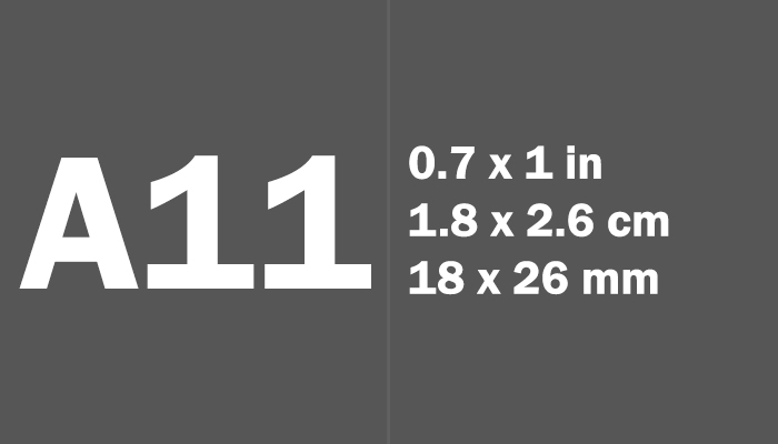 A11 Paper Size Dimensions