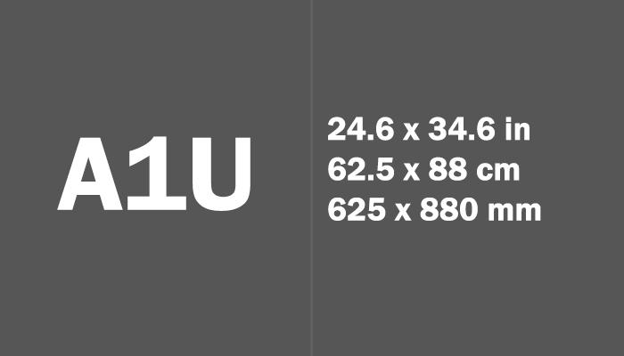 A1U Paper Size in cm mm