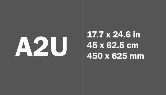 A2U Paper Size Dimensions
