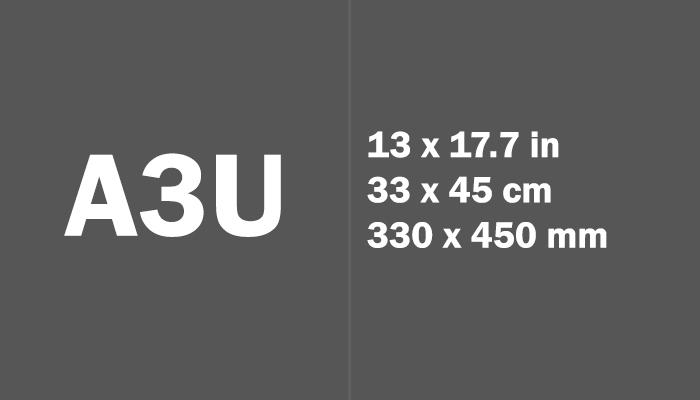 A3U Paper Size in cm mm
