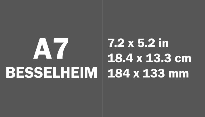 A7 Besselheim Paper Size in cm mm