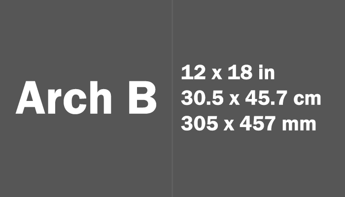 Arch B Paper Size in cm mm
