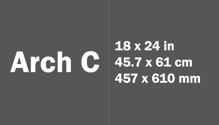 Arch C Paper Size in cm mm