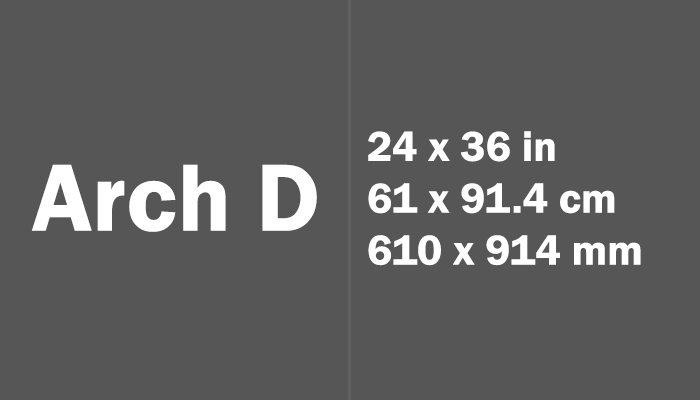 Arch D Paper Size in cm mm