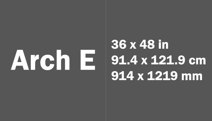 Arch E Paper Size Dimensions