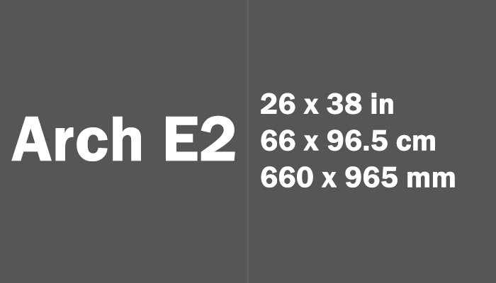 Arch E2 Paper Size in cm mm
