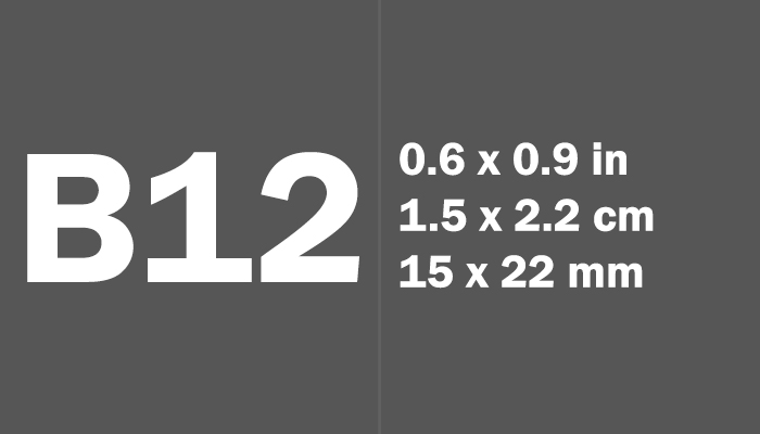 B12 Paper Size Dimensions