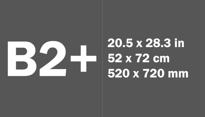 B2+ Paper Size Dimensions