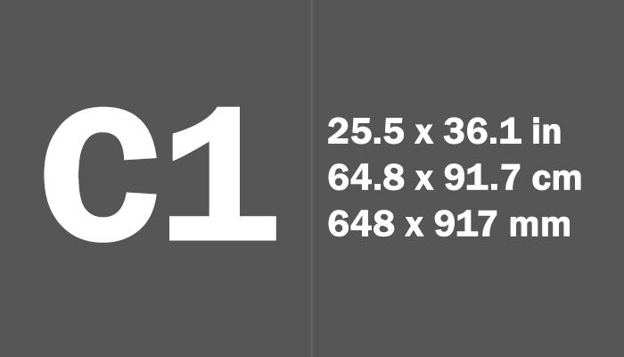 C1 Paper Size in cm mm