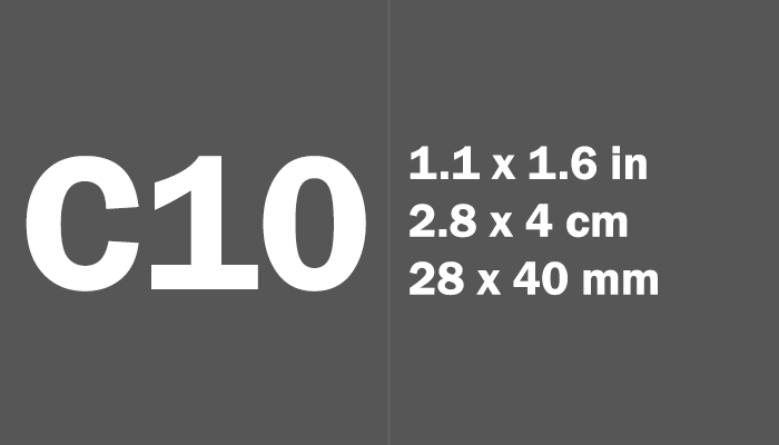 C10 Paper Size Dimensions