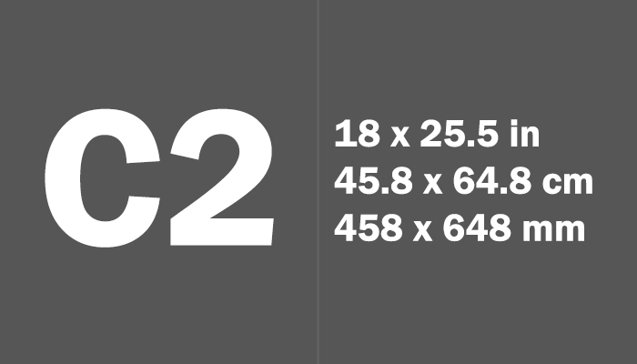 C2 Paper Size in cm mm