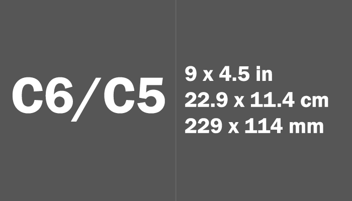 C6/C5 Paper Size in cm mm