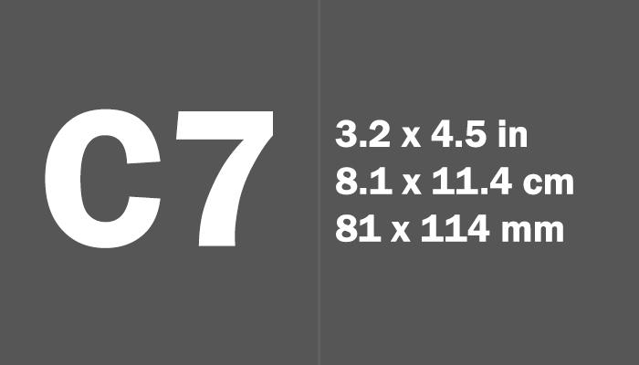 C7 Paper Size Dimensions