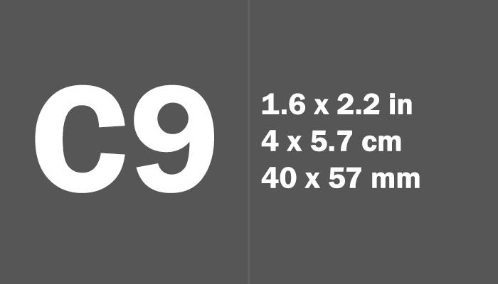 C9 Paper Size in cm mm