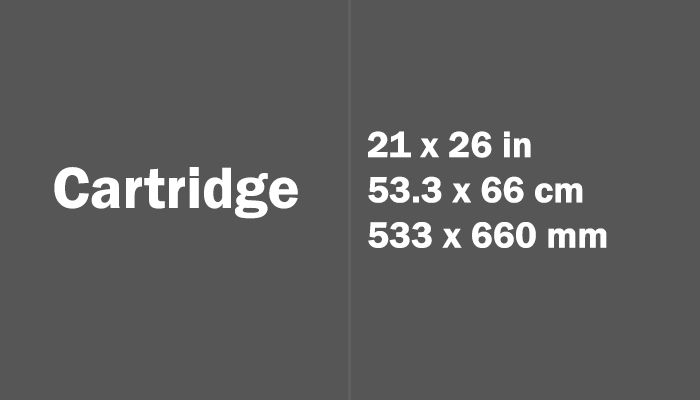 Cartridge Paper Size Dimensions