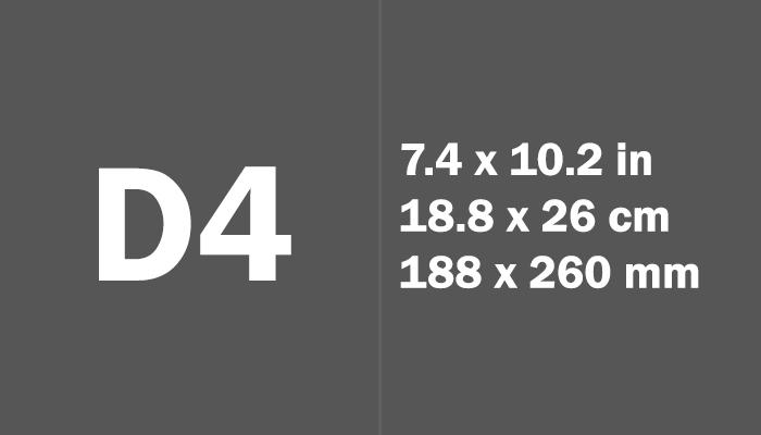 D4 Paper Size Dimensions