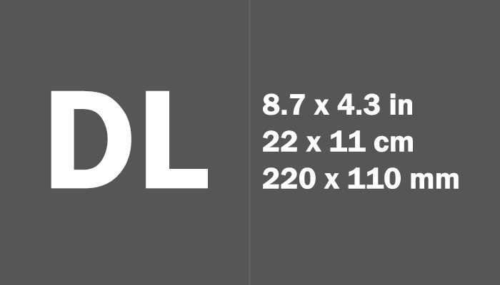 DL Paper Size in cm mm