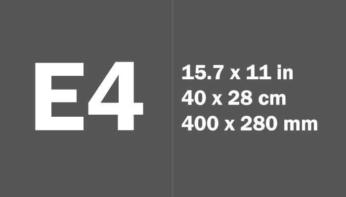 E4 Paper Size Dimensions
