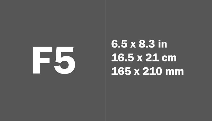 F5 Paper Size Dimensions
