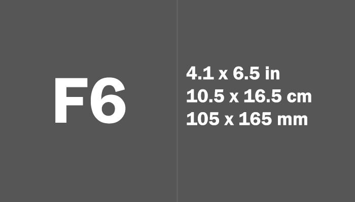 F6 Paper Size in cm mm