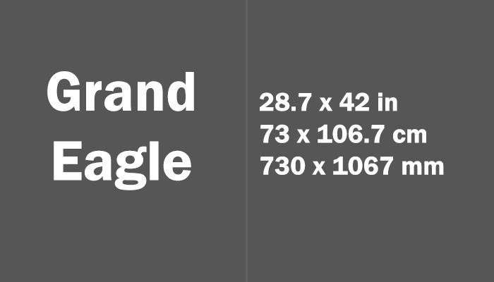 Grand Eagle Paper Size Dimensions