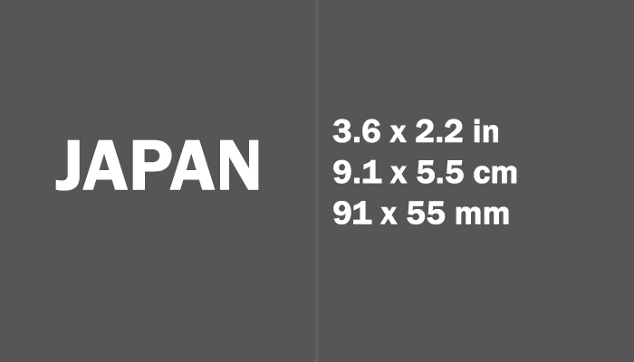 Japan Paper Size in cm mm