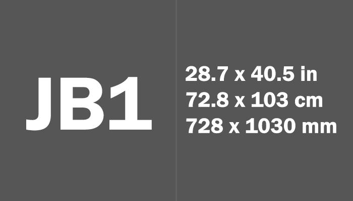 JB1 Paper Size Dimensions