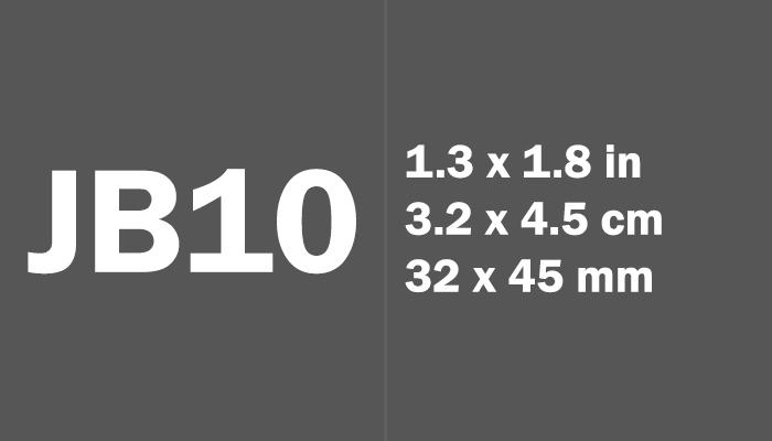 JB10 Paper Size Dimensions