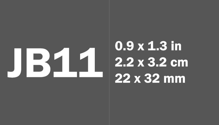 JB11 Paper Size in cm mm