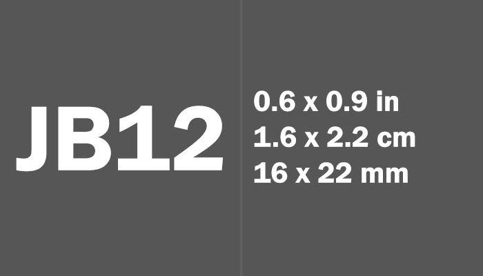 JB12 Paper Size Dimensions