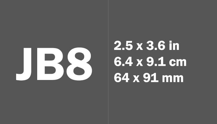 JB8 Paper Size Dimensions