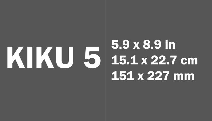 Kiku 5 Paper Size in cm mm