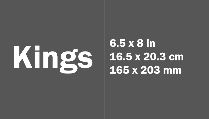 Kings Paper Size Dimensions