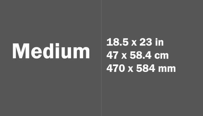 Medium Paper Size in cm mm