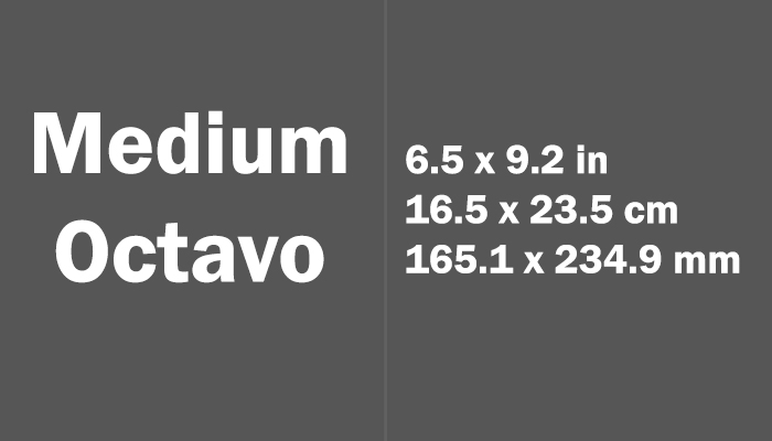 Medium Octavo Paper Size in cm mm