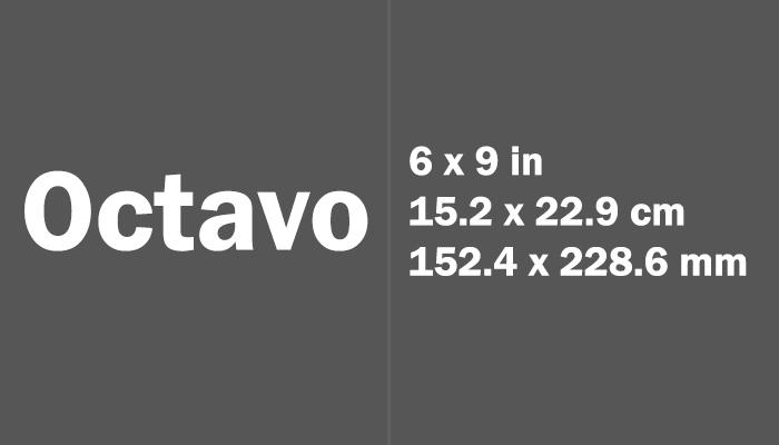 Octavo Paper Size in cm mm