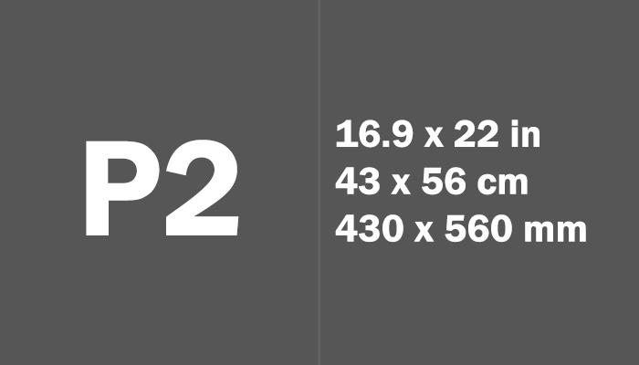 P2 Paper Size Dimensions