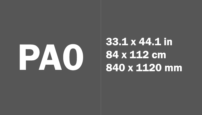 PA0 Paper Size Dimensions