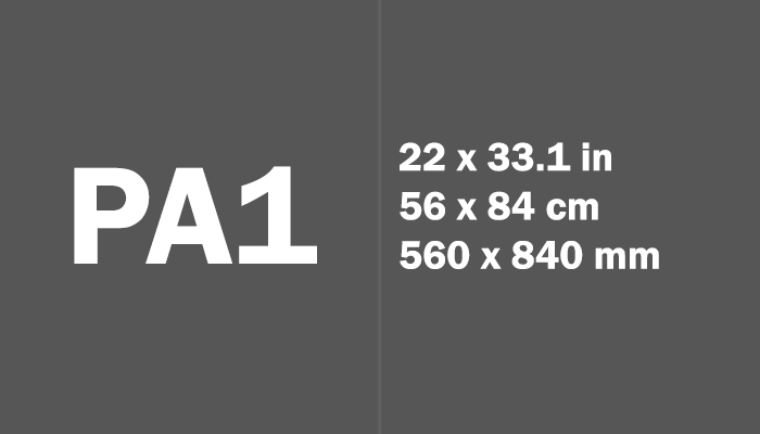 PA1 Paper Size Dimensions