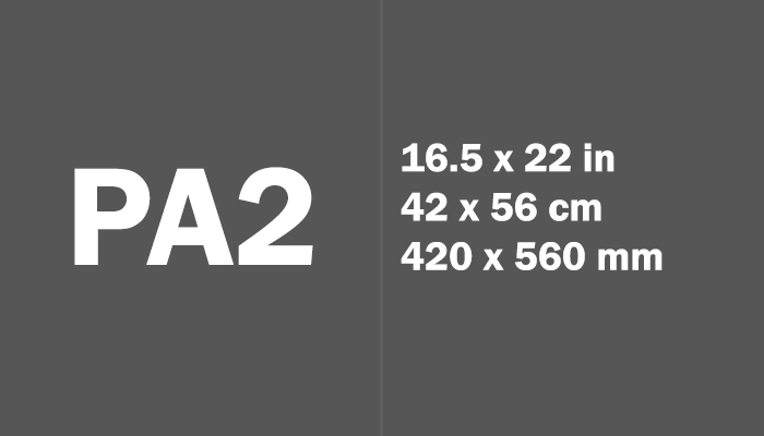 PA2 Paper Size Dimensions