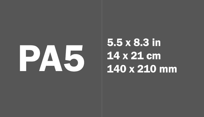 PA5 Paper Size Dimensions