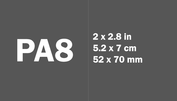 PA8 Paper Size Dimensions